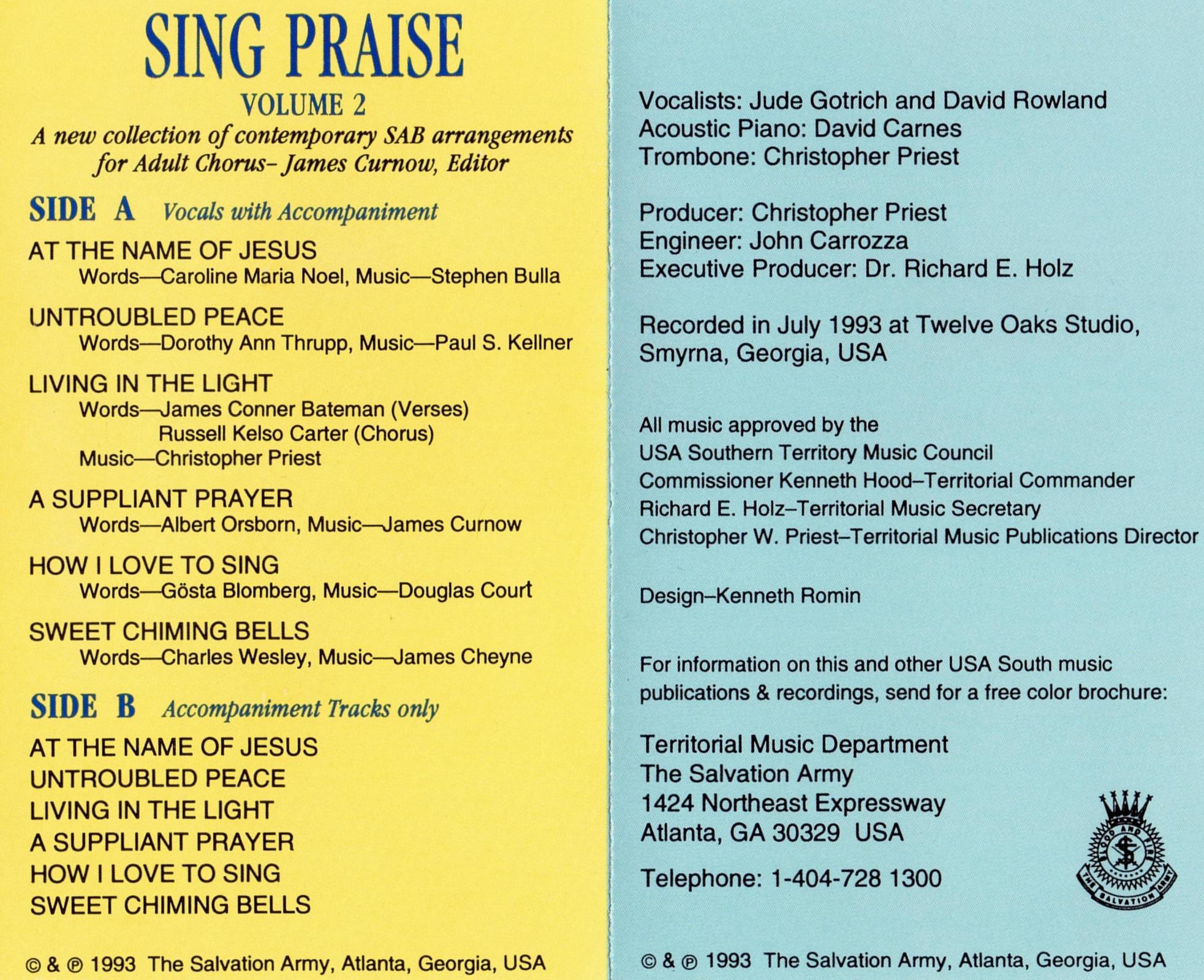 Sing Praise Vol  2 - 1993 - Regal Zonophone