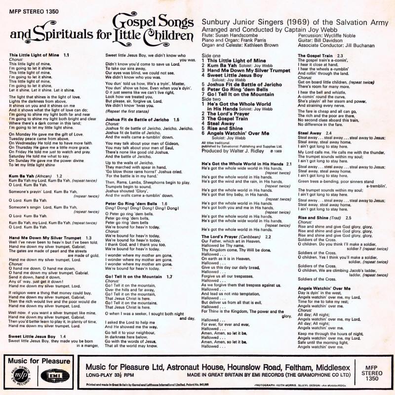 Gospel Songs and Spirituals for Little Children - Capt  Joy